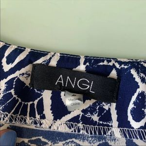 ANGL Tops - Bell Sleeve Tie Front Top